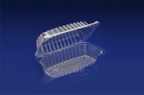 "CHC-843<br></br>8"" SUBMARINE SANDWICH/HOAGIE CLEAR HINGED CONTAINER<br></br> 7 Tiers x 10 cases per tier = 70 cases per pallet"