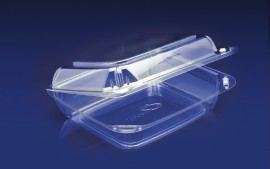CBC-8X2 <br></br>ClearBoost PET 8″ Hinged Container