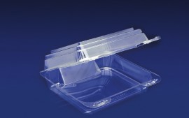CBC-88S<br></br> ClearBoost 7&#8243; PET Slanted Container