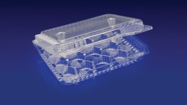 CMC-20L 20 CELL MINI CUPCAKE/MUFFIN CONTAINER  <br> <br> 4 Tiers x 6 cases per tier = 24 cases per pallet