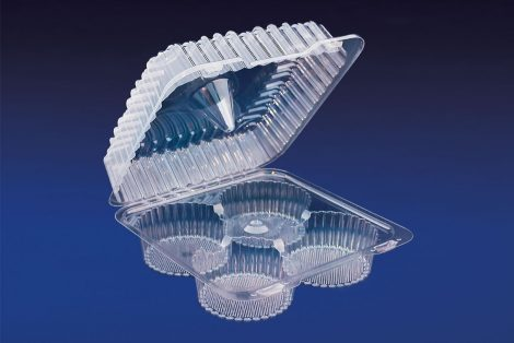 CHC-04LG 4 LARGE CELL JUMBO CUPCAKE/MUFFIN CONTAINER