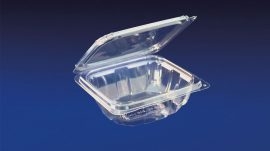HLD-012 ClearBoost 12oz. Perimeter Seal Hinged Deli Container PET