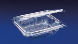 HLD-024 ClearBoost 24oz. Perimeter Seal Hinged Deli Container PET