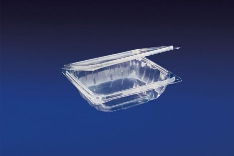 HLD-008 ClearBoost 8oz. Perimeter Seal Hinged Deli Container PET